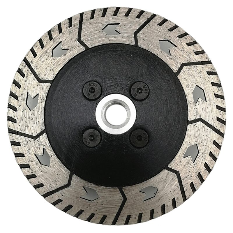 New 125 X 2.8mm M14 Double-Sided Diamond Saw Blade Grinding Slice Sharp Type With Flange