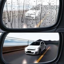 2PCS רכב Rearview מראה מגן סרט אנטי ערפל חלון ברור אטים לגשם מראה אחורית מגן רך סרט אביזרי רכב