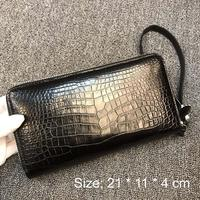 XHPJ crocodile handbags men belly No stitching The wallet business handbags Genuine leather Hand bag men clutch bag