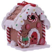 1 Pc Weihnachten LED Harz Haus Schmuck Schöne Leuchtende Haus Anhänger LED Beleuchtung Weihnachten Haus Dekorationen