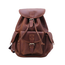 Vintage Backpack Genuine Leather Travel Backpacks Rucksack School Laptop Camping Hiking Bag for College high quality england vintage style genuine leather men backpacks for college school backpacks for 14 inch laptop bags 9024