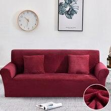 Sofa Abdeckung Dicken Plüsch All inclusive Sofa Abdeckungen für Wohnzimmer Weichen Couch Abdeckung Sofa Handtuch Schutzhülle 1/2/3/4 Sitzer cubre sofa
