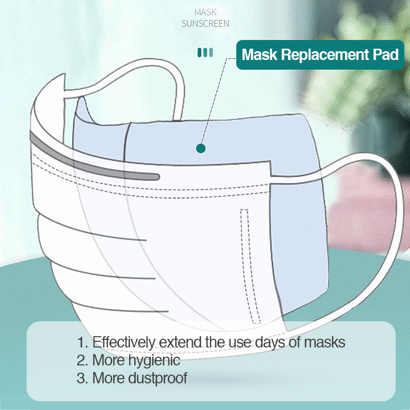 100 Pcs Anti Dust Masks Filter Disposable Mask Gasket Prevent Infection Health Mask Replace Filter For N95 KN95 For Dropshipping
