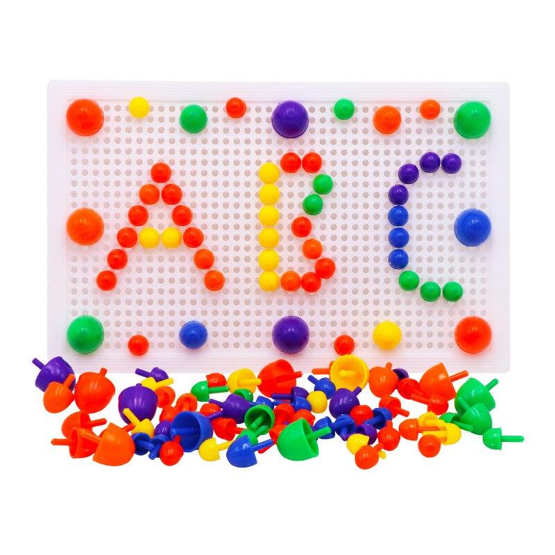 67 шт./компл. Мозаика головоломки игрушки креативная мозаика грибные наборы ногтей композитная картина головоломка Дети Подарки Развивающи...