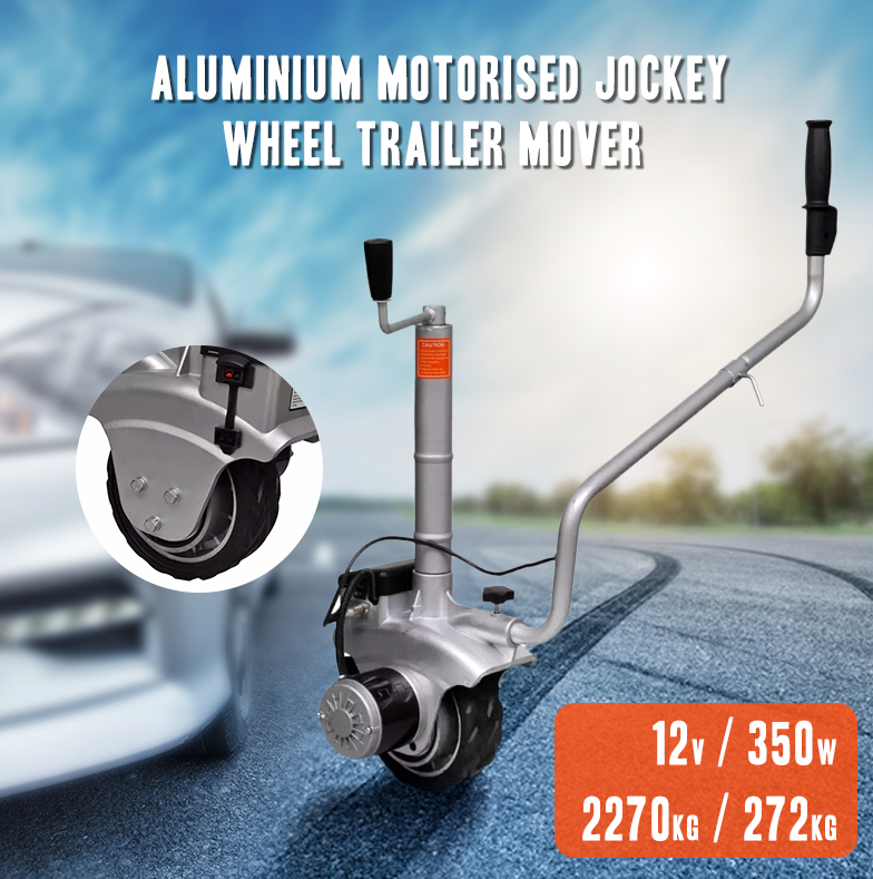 Aluminium Motorised Trailer Jockey Wheel Trailer Mover 12V 350 W Mover Electric Caravan Boat Dolly Auto Automatic Brake DC Motor