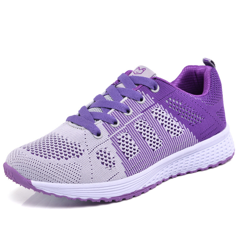 2020 Women Shoes Flats Fashion Casual Ladies Walking Woman Lace-Up Mesh Breathable Female Sneakers Zapatillas Mujer Feminino 12