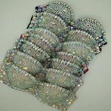 Sparkly AB Rhinestones Bra Bar Stage Performance Crystals Diamond Bikini Costume Nightclub Women Singer Dancer Underwear