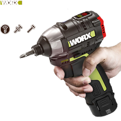 Worx 12v Brushless Motor Cordless Impact Screwdriver WU132 140Nm Adjust Torque Professional tool With 1Battery And 1Charger