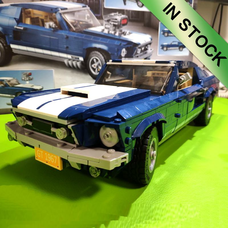 In Stock Creator Car Technic Forded Mustanged 21046 21047 G500 Mini Cooper Building Blocks Compatible 10262 10265 MOC-2465