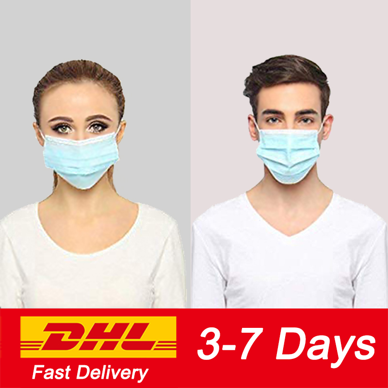 50-1000pcs Adults Masker Gas Respirator Face Mouth Masks Masque Disposable Face Mask Filter маска Safety Maske Protective Masks