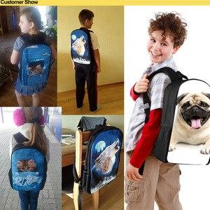 Image 5 - FORUDESIGNS Jurassic World Kids Schooltassen voor Jongens T rex Dinosaurus Rugzak Primaire Kinderen Boek Tassen Kids Gift Bag mochilas