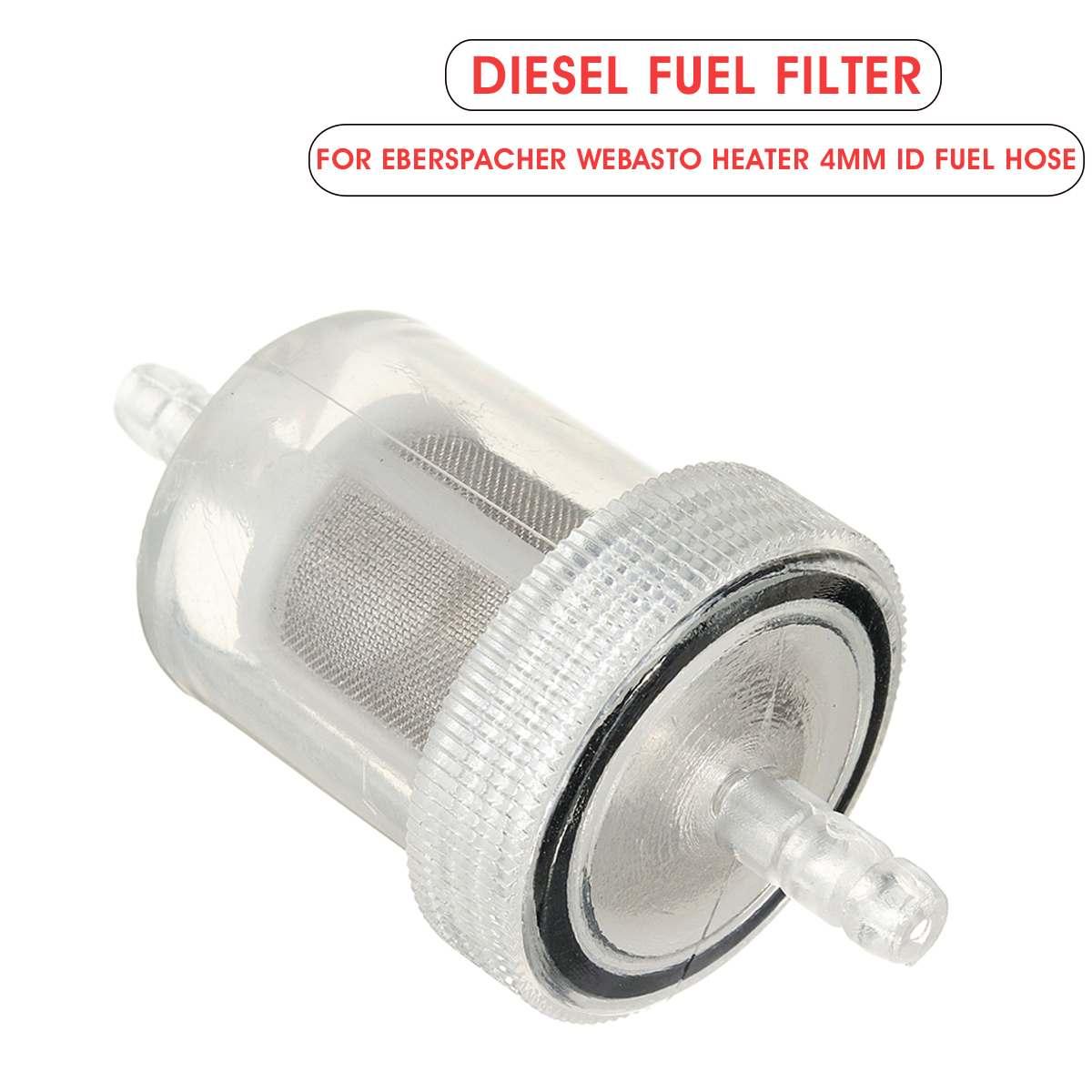 4mm Car Air Diesel Parking Heater Fuel Filter Gas Oil Filter Universal For RV Caravan Motorhome