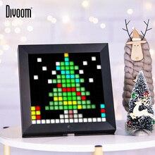 Цифровой фоторамка Divoom Pixoo будильник с пиксельным дизайном программируемый светодиодный дисплей, неоновый светильник, знак для рождественского подарка и декора