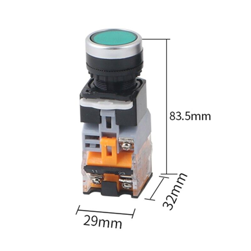 1 قطعة LA38-11D/11DS جودة الشظية الاتصال مفتاح بـزر دفع مع ضوء تشغيل/إيقاف لحظة/الإغلاق 22 مللي متر 220 فولت 24 فولت LED مؤشرات