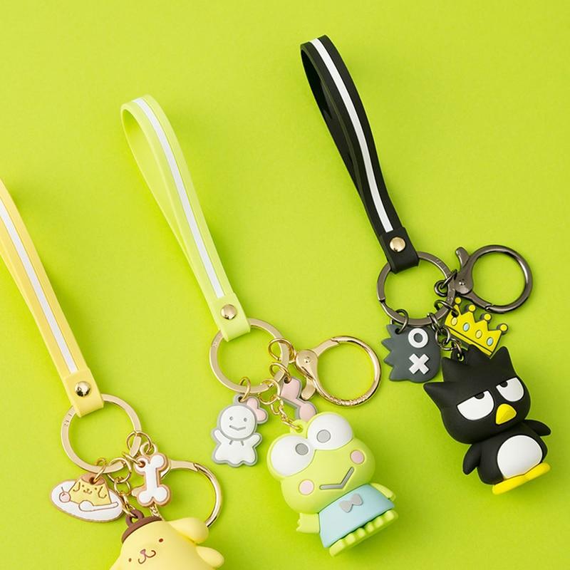 JOYA 2021 Women Key Chain New Epoxy Cartoon KT Series Car key ring Cute Doll Bag Pendant Stainless Steel keychain Gift Wholesale 6