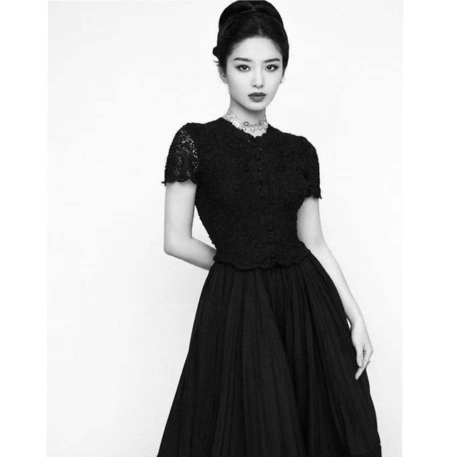 Prom Dresses Summer Dress 2021 Evening Lace Cotton Party Vintage Long Dress V Neck Short Sleeve Black White Women Clothing Molin 4