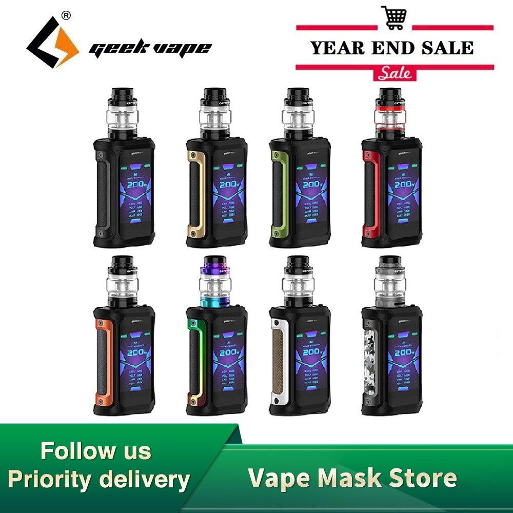 New Original GeekVape Aegis X Kit 200W Box Mod With Cerberus Sub Ohm Tank Fit Mesh X2 Coil Electronic Cigarette VS Aegis Solo