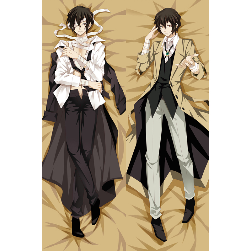 BL Anime Dakimakura Bungo Stray Dogs Osamu Dazai Hug Body  Pillow Cover Cushion Pillow Case Otaku Cosplay DIY Custom Made Gift