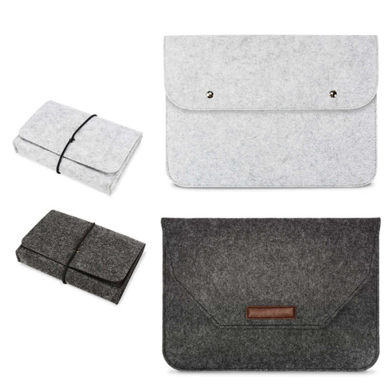 Funda de fieltro para portátil para Macbook Air Pro Retina 11 12 13 14 15 '', funda de tableta PC para HP Xiaomi Lenovo Mac book