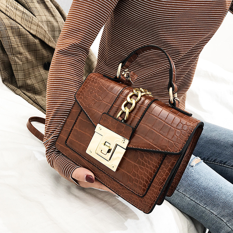 Fashion Alligator Women Shoulder Bags Designer Chains Handbags Luxury Pu Leatehr Crossbody Bag Small Envelope Flap Famale Purses