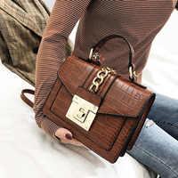 Fashion Alligator Women Shoulder Bags Designer Chains Handbags Luxury Pu Leatehr Crossbody Bag Small Envelope Flap Famale Purses