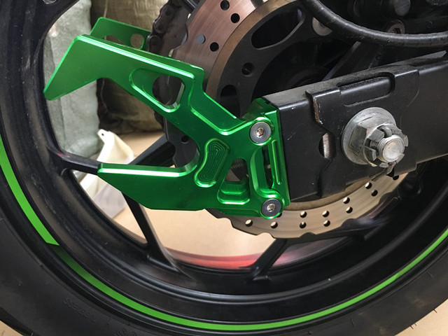 Motorcycle Rear Wheel Axel Protection 1