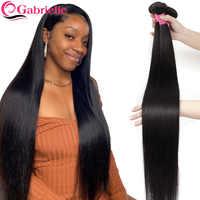 Gabrielle pelo lacio brasileño mechones 30 32 34 40 pulgadas Color Natural barato mechones de cabello humano postizo mechones de cabello Remy administrando extensiones