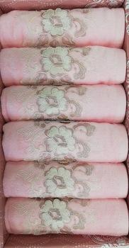 Francuski koronki 3D 6 sztuk ręcznik w pudełku Desen3 461401218 tanie i dobre opinie