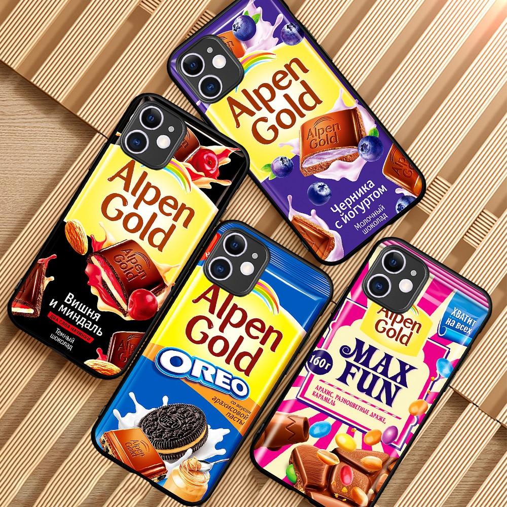 fashion Alpen Gold chocolate Phone case for iPhone 5 5S SE 6 6S 7 8 Plus X XS Max XR 11 Pro Max One Plus 5T 6T 7T 8 Pro funda