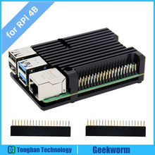 Raspberry Pi 4 Computer Model B Armor Aluminum Alloy Case/ Passive Cooling Shell Metal Enclosure Heat Dissipation for Pi 4B Only