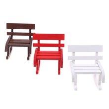 1:12 Кукольный домик миниатюрная мебель деревянное кресло-качалка пеньковая веревка сиденье для кукол аксессуары для дома Декор Игрушки