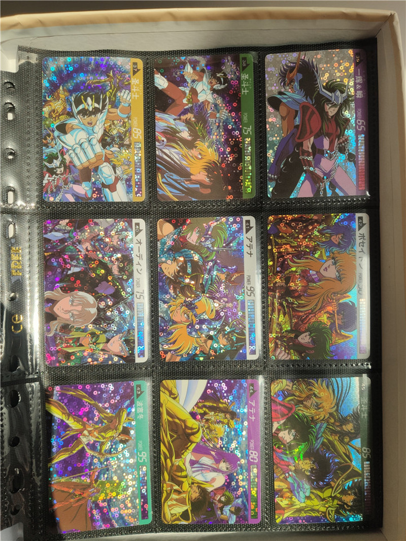 45pcs/set Saint Seiya Stickable Bliss Pure Land Golden Zodiac Toys Hobbies Hobby Collectibles Game Collection Anime Cards