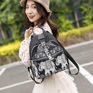 Image 3 - India Thai Style Women Backpack Leisure Ethnic Style High Quality Oxford Packbag Travel Female School Shoulder Back Bag for Girl