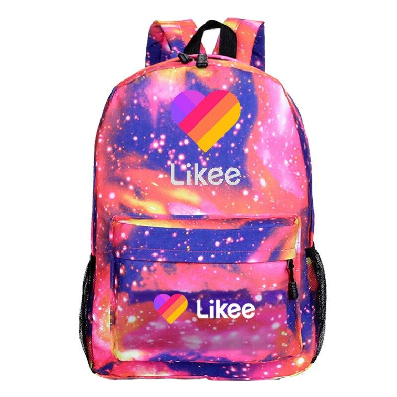 LIKEE Backpack For Boys Girls Backpack Likee Live Multicolor Backpack Boys Girls Fashionable Backpack Kids Mochila Schoolbag