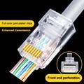 100 шт. Cat6 8P8C RJ45 модульный разъем для CAT5 Cat6 локальной сети высокое качество RJ45 Ethernet кабель Вилки Модульный адаптер инструменты для наращивани...
