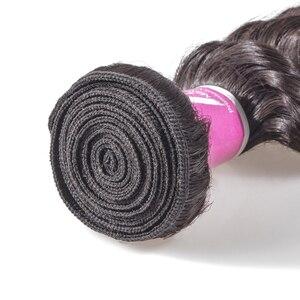 Image 4 - Menschliches Haar Weave Bundles Tiefe Welle Brasilianische Kurze Natürliche Farbe Remy Haar Verlängerung Lange für Schwarze Frauen 3 Bundles 28 zoll