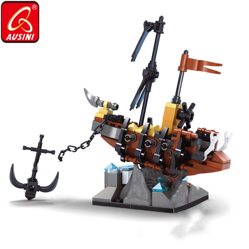 Ausini Ghost Ship Building Blocks Caribbean Skull Pirate Figure Bricks Toys For Boys Children Diy Designer Kids Model Set Gifts Blocks Aliexpress