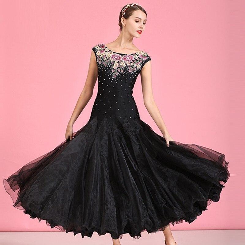 Ballroom Dance Competition Dress For Dancing Standard Dance Dress Waltz Ballroom Dress Embroidery Swing Dress Evening Dress