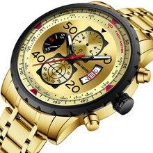 Мужские наручные часы Бен Нерис кварцевые повседневные водонепроницаемые