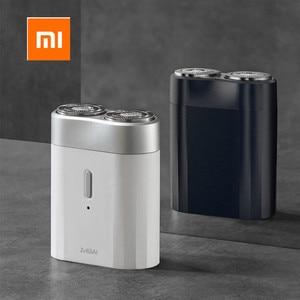 Image 2 - Новейшая Xiaomi Mijia Мужская электрическая бритва для влажного/сухого бритья IPX7 водонепроницаемый перезаряжаемый мини корпус из японской стали немецкий технический мото