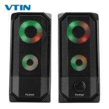 Nouveau coloré lumières ordinateur haut parleur 2.0 RGB haut parleur tactile contrôle lumière Portable Mini haut parleur Super stéréo basse pour le jeu à la maison