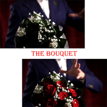 The Bouquet Rose 9 Flowers Magic Tricks Blooming Bouquet For Lover Stage Wedding Party Stage Illusions Comedy  Mentalism Funny