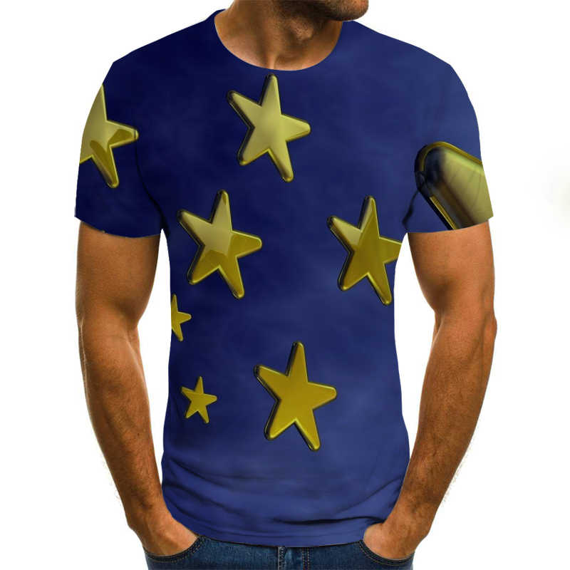 2020 3D komik T Shirt erkek giyim Psychedelic baskı rahat kısa kollu T Shirt erkek Streetwear t gömlek erkekler