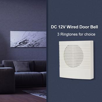 Przewodowy DC12V dzwonek do drzwi 4 przewody Dingdong Musical dzwonek dzwonek do drzwi dzwonek do kontroli dostępu elektroniczny System bezpieczeństwa nie ma potrzeby baterii tanie i dobre opinie OBO HANDS 85 * 85 * 25mm Wired door bell ABS Plastic -10°-45° Wall-mounted