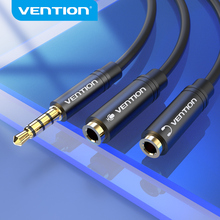 Vention Audio Splitter Earphone Extension Cable Jack 3.5mm Cable Male to 2 Female Mic Y for Phone Laptop PC AUX Cable