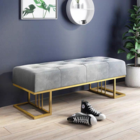 Nordic shoe bench пуфик living room door bench simple modern bed end sofa clothing store shoe store test shoe stool