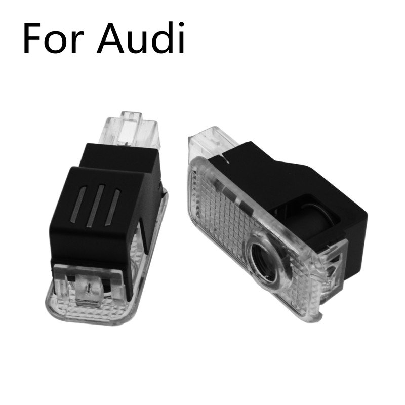 2X Car LED Door Logo Welcome Light Projector Ghost Shadow Lamp For Audi A4 B8 B9 A3 A6 C6 C7 A5 A7 A8 Q3 Q5 Q7 S3 S5 TT RS3 RS5