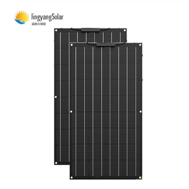 solar panel 100w 200w, flexible solar panel made of ETFE material, ETFE flexible solar panel for 12V battery charger 2