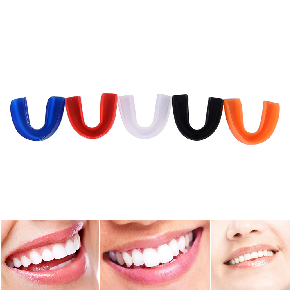 New Sports Teeth Shock Anti Single-sided Teeth Guard Mouthguard Free Combat Sports Tooth Protector With Plastic Case Box