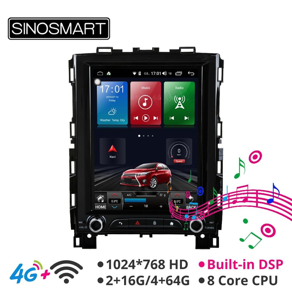 Sinosmart Gps Radio Player Navigation Vertical Hd-Screen Android-8.1 Megane 4-Koleos